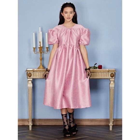 Sister Jane 👑 highness jacquard baby doll dress